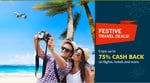 75% cashback on Domestic Hotels (upto a maximum of Rs.3,000) || 40% cash back on International Hotels (upto a maximum of Rs.3,500)  No minimum booking amount.(american express cards only)