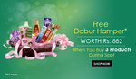 Free Dabur Hamper Worth Rs.882 When you Buy 3 Products During Sept