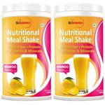 St.Botanica Nutritional Meal Replacement Mango Shake for Weight Management - 500 g (Pack of 2)