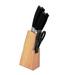 Home belle designer knife with wooden block   set of 6 home belle designer knife with wooden block   xdk4b8