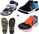 Bersache Casuals (2 Shoes,1 Sandal, 1 Flip Flop)