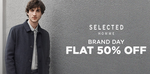 Flat 50% off on SELECTED  Mens Apparels
