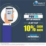Get Flat 10% Cashback on Connect Broadband/Landline Payment