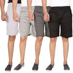 Swaggy Combo of 4 Plain Shorts For Men