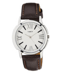 Timex TI002B10100 Brown Leather Analog Watch