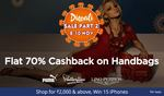 Bags At 70% Cashback