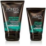 Pond's Men Oil Control Face Wash Kit+50 g Pond's Men Oil Control Face