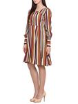 Limeroad Multicolored Modal Crepe Dress