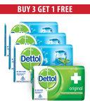Dettol Cool Soap - 125 gm (Pack of 3) + Dettol Original Soap 75 gm Free