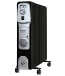 Maharaja Whiteline Equato (9 O F R) Oil Filled Room Heater (Premium Black and Silver Finish)