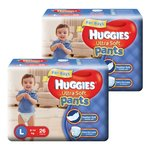 Huggies Ultra Soft Pants Large Size Premium Diapers for Boys
