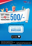 Get Free Rs.500 BookMyShow Voucher on Minimum purchase off on Rs.750