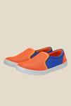 Nell Orange & Blue Plimsolls