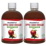 HealthViva Apple Cider Vinegar 500 ML - Pack of 2