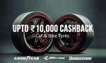 Get 30% cashback on Tyres