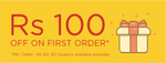 Yumist : Get Rs.100 off on minimum food order for minimum of Rs.150 on first order.