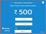 Bajajelectricals - Get Rs.500 Voucher on Sign Up