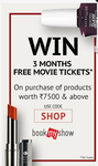 Get 3 Couple movie Tickets Free worth 1500 (shoppersstop)