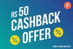 Get Rs 50 cashback on your online order when you pay through Freecharge