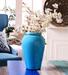 Hosley Blue Ceramic Decorative Crek Vase