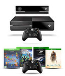 Microsoft Xbox One Console with Kinect with 1 Extra Wireless Controller and 4 Games DLC (Halo 5, Forza Motorsport 6, Fruit Ninja 2 & Kinect Rivals)