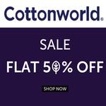 Cottonworld Fashion Sale: Flat 50% Off + 5% Extra Discount