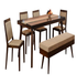 @Home By @Home By Nilkamal Matrix One And 4 Dining Bench Kit