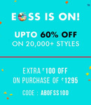 Abof : Upto 70% off on apparels and accessories