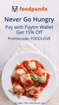 Get 15% off @ Foodpanda when you Pay via Paytm Wallet