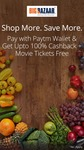 Upto 100% Cashback + a movie ticket free when you pay with Paytm wallet at Big Bazaar stores