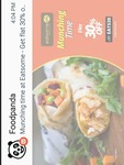 Flat 30% off on foodpanda EATSOME between  3 to 6 pm