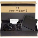 Maxima EGO attivo Men's Black Analogue watch with Free wallet BeltE-40403PAGG