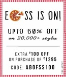 Abof : Flat 50% off on Clothing, Footwear, Accessories.