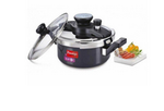 Prestige Clip On Series Hard Anodised 3 Litre Pressure Cooker with Glass Lid Accessory