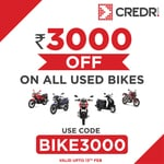 CredR : Get Flat Rs.3000 Discount on Bikes