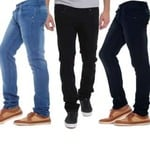 LONDON LOOKS Slim Fit Mens Blue Jeans at 80% off