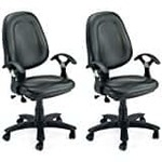 40% off  Adiko Adiko ADXNS313 Low Back Office Chair (Black)@6,099