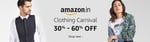 Clothing Carnival - Additonal 30% off + Additional 10% via amazon pay balance