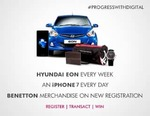 Transact via Axis Mobile, Internet Banking and the Axis Pay UPI app and stand to win a Hyundai Eon every week and an I-Phone every day