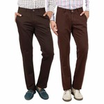 Uber Urban:Coffee Brown+Pure Brown Chinos Combo At Rs.500 Discount