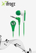 iFrogz IF-ANE-DER Volume Limiting Earphone for Kids (Green)
