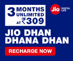Reliance JIO launched New First Recharge Plans with long validity discount deal