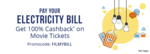 ₹500 Cashback on electricity bill payment of ₹10,000 or more discount offer