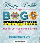 Buy 1 Get 1 Free on Clothing, Footwear & Accessories discount offer