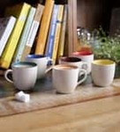 Cdi Marble Finish Tea Cup Set of 6