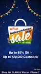 Shop for Rs 500 and get Rs 100 cashback on Paytm Mall Independence day Sale
