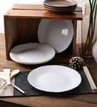 Cello Opal Ware Full Dinner Plates - Set of 6