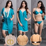 9 PC SATIN NIGHTWEAR SET