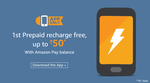 Amazon App only – Do your first mobile prepaid recharge using Amazon Pay balance get 100% cashback low price