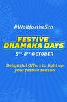Flipkart Diwali Sale : Flipkart Festive Dhamaka Sale Offers (5th-8th October 2017)